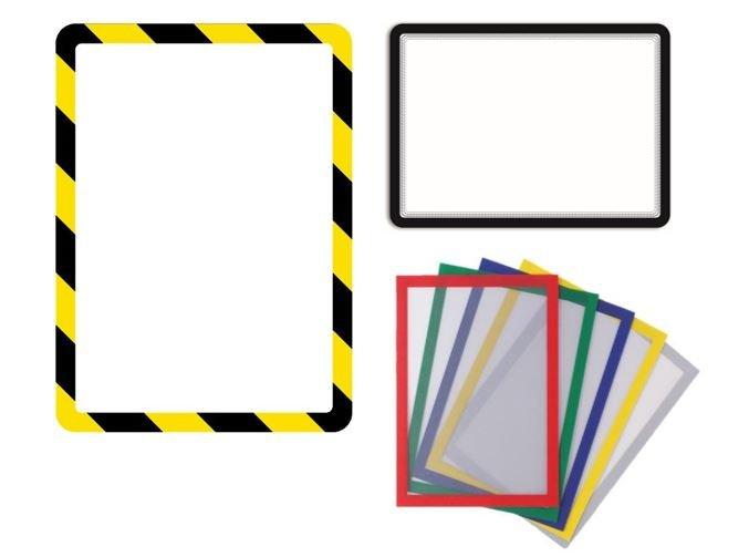 Verschiedenen Produkte um Sicherheitshinweise auszuhängen.